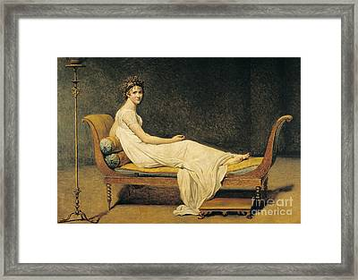 Madame Recamier Framed Print by Jacques Louis David