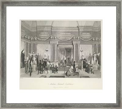 Madame Tussaud's Exhibition Framed Print by British Library