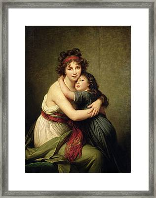 Madame Vigee-lebrun And Her Daughter, Jeanne-lucie-louise 1780-1819 1789 Oil On Canvas Framed Print by Elisabeth Louise Vigee-Lebrun