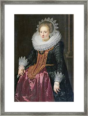 Madame Vrijdags Van Vollehoven Framed Print by Jan Anthonisz van Ravestyn