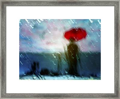 Madame With Umbrella Framed Print