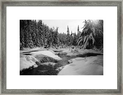 Framed Print featuring the photograph Madawaska River by David Porteus