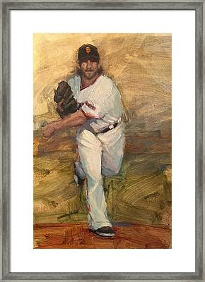 Madbum Warmup Sketch Framed Print by Darren Kerr
