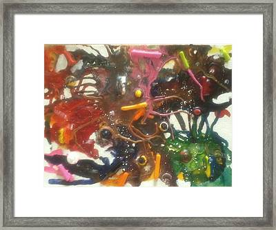 Maddness Framed Print by April  Weller