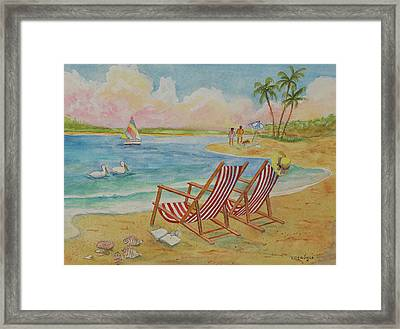 Made For Relaxing Framed Print by John Edebohls