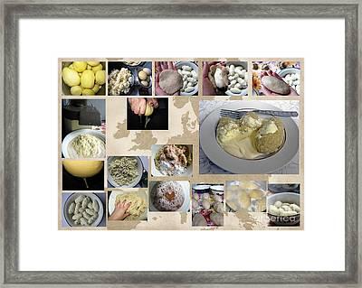Framed Print featuring the photograph Made In Lithuania... Cepelinai- Potato Dumplings by Ausra Huntington nee Paulauskaite