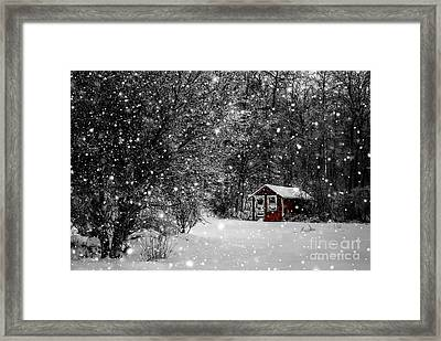 Made In Maine Winter  Framed Print by Brenda Giasson