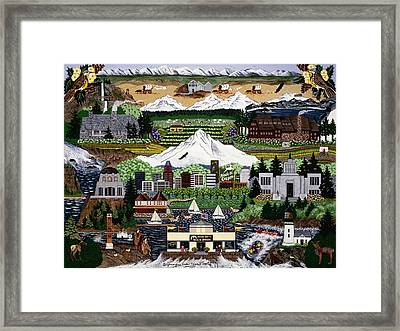 Framed Print featuring the painting Made In Oregon by Jennifer Lake