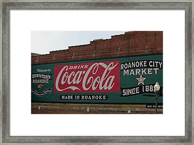 Made In Roanoke Framed Print by Suzanne Gaff