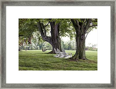 Made In The Shade Framed Print by Edward Kreis