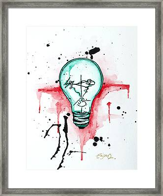 Made Of Wires Framed Print by Emily Pinnell