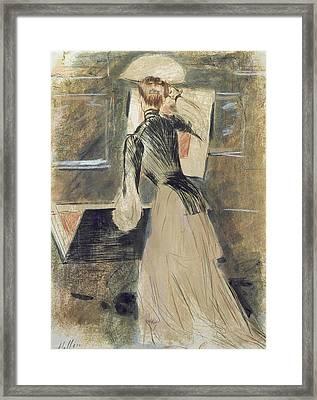 Madeleine Carlier Coloured Engraving Framed Print