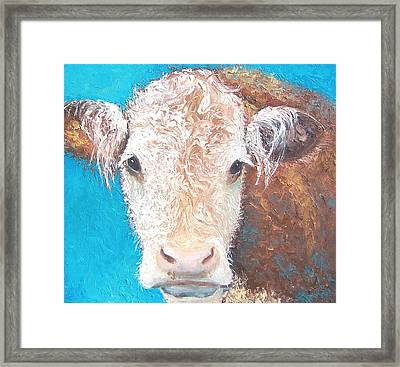 Madelyn The Cow Framed Print