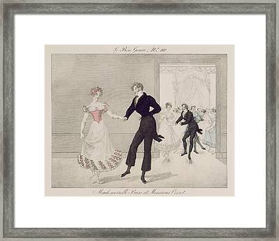 Mademoiselle Busc And Monsieur Corset Framed Print by French School