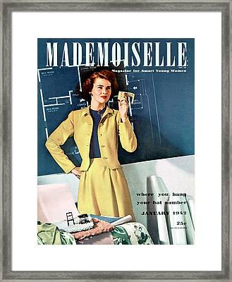 Mademoiselle Cover Featuring A Model In A Dirndl Framed Print