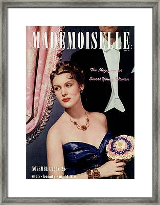 Mademoiselle Cover Featuring A Model In An Opera Framed Print