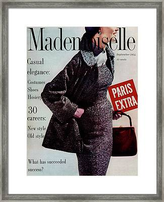 Mademoiselle Cover Featuring A Model Wearing Framed Print by Stephen Colhoun
