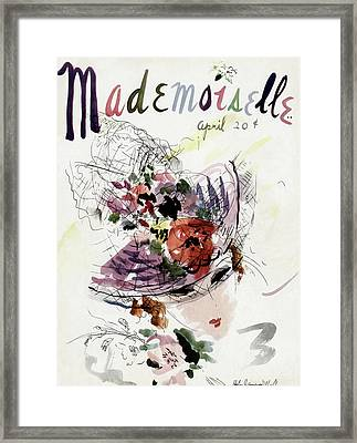 Mademoiselle Cover Featuring An Illustration Framed Print by Helen Jameson Hall