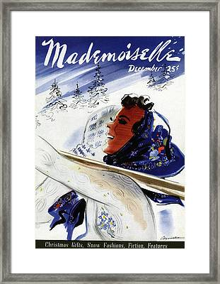 Mademoiselle Cover Featuring An Illustration Framed Print