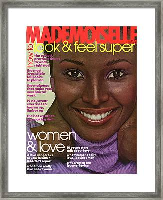 Mademoiselle Cover Featuring Barbara Smith Framed Print