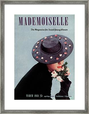 Mademoiselle Cover Featuring Jean Burnes Framed Print