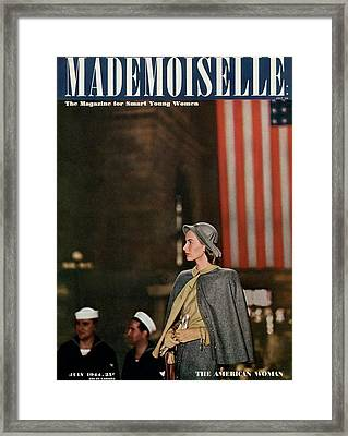 Mademoiselle Cover Featuring Jessica Patton Framed Print