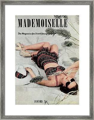 Mademoiselle Cover Featuring Kay Lohden Framed Print by Paul D'Ome