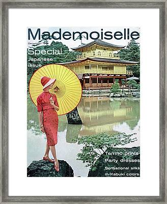 Mademoiselle Cover Featuring Model Dolores Framed Print by Herman Landshoff