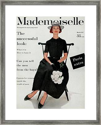 Mademoiselle Cover Featuring Model Dolores Framed Print by Stephen Calhoun