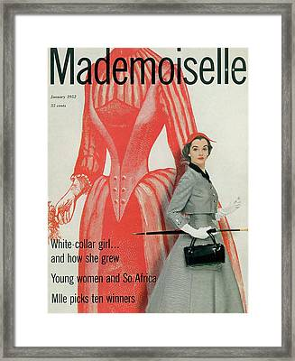 Mademoiselle Cover Featuring Nan Rees Framed Print by Stephen Colhoun