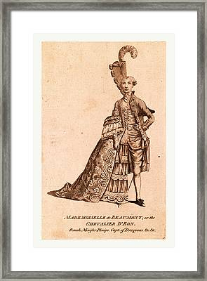 Mademoiselle De Beaumont Or The Chevalier Deon Framed Print by Litz Collection