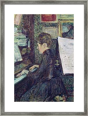 Mademoiselle Dihau At The Piano Framed Print