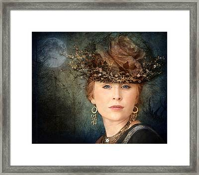 Mademoiselle Emilie Framed Print by Marie  Gale