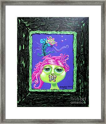 Mademoiselle Flutterby Framed Print by Genevieve Esson