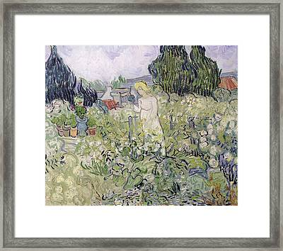 Mademoiselle Gachet In Her Garden At Auvers-sur-oise, 1890  Framed Print by Vincent van Gogh