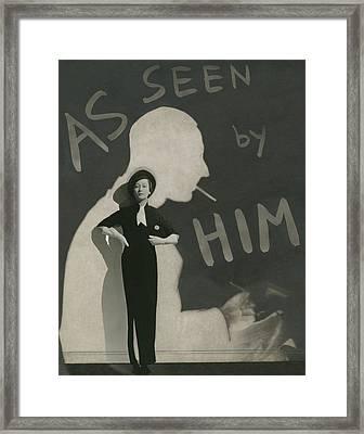 Mademoiselle Koopman Wearing A John Mcmullin Framed Print
