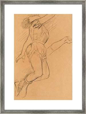 Mademoiselle La La At The Circus Fernando Framed Print by Edgar Degas