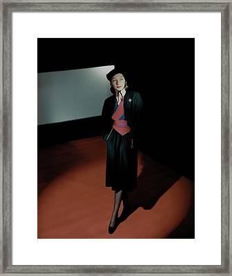 Mademoiselle Valentina In Shadows Framed Print