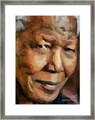 Madiba Framed Print by Dragica  Micki Fortuna