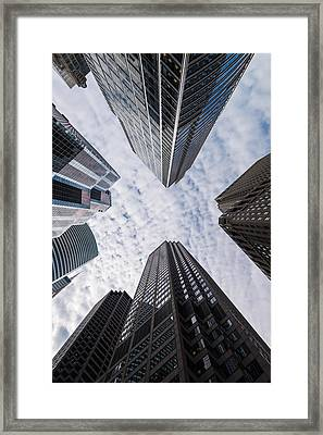 Madison And Wacker Chicago Il Framed Print
