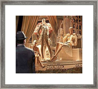 Madison Ave Meets Rodeo Drive Framed Print by Chuck Staley