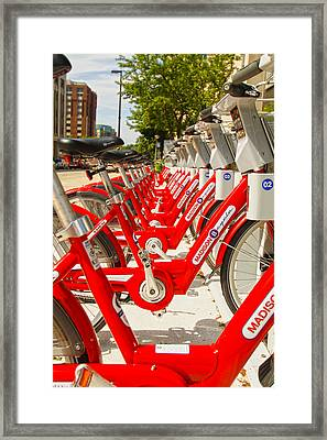 Madison Bikes - Mike Hope Framed Print
