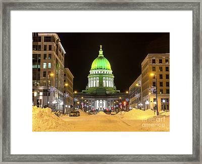 Madison Capitol Framed Print by Steven Ralser