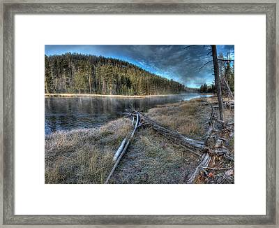 Madison River In The Morning Framed Print by Twenty Two North Photography
