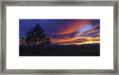 Madison River Sunset Framed Print