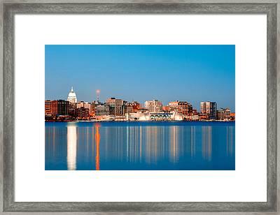 Madison Skyline Framed Print by Todd Klassy