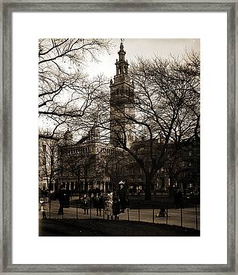 Madison Square, New York, Madison Square Garden New York Framed Print by Litz Collection