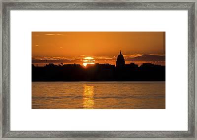 Madison Sunset Framed Print