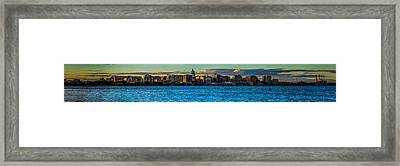 Madison Twilight Panorama Framed Print by Randy Scherkenbach