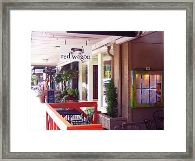 Madison Valley Street Scene 1 Framed Print